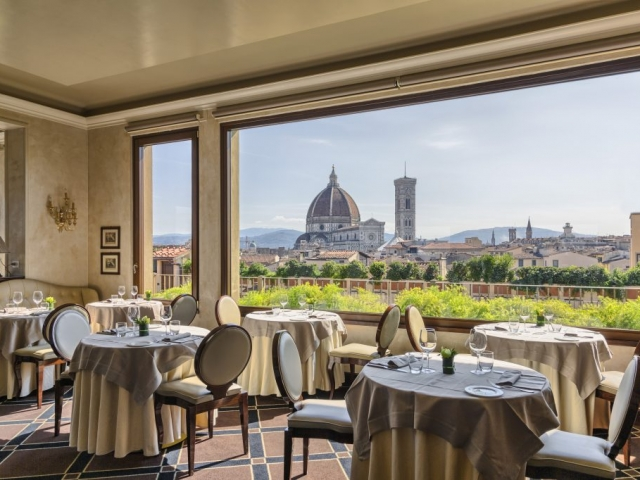 ristorante b roof firenze interno
